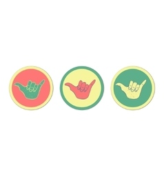 Hang loose hand sign vector image vector image