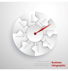 Infographic Pointer vector image vector image