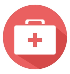 Medical suitcase icon vector