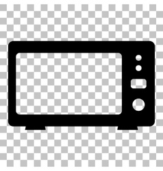 Microwave sign Flat style black icon vector image vector image