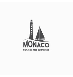 Monaco travel print vector