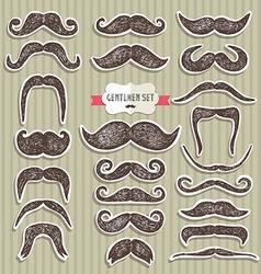 Moustaches set design elements vector