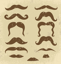 Mustaches collection vector image