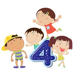 Number 4 vector image vector image