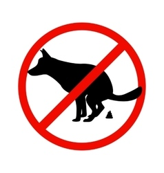 Prohibition sign paddock animals vector