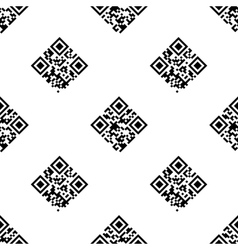 QR Codes seamless pattern vector image