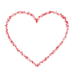 Red Hand Drawn Contour Thin Grunge Heart vector image vector image