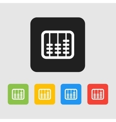 Retro old abacus icon Colored abacus icon in vector image vector image