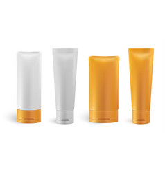 set of cosmetic bottles vector image vector image
