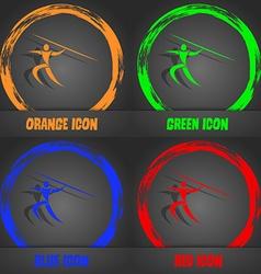 Summer sports javelin throw icon fashionable vector