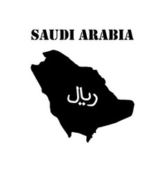 Symbol of saudi arabia and map vector