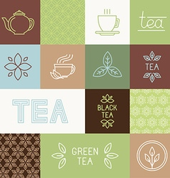 tea package design elements vector image vector image