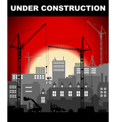 Under construction concept in industrial vector