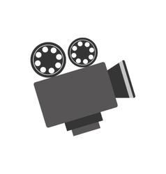 Vintage movie camcorder vector