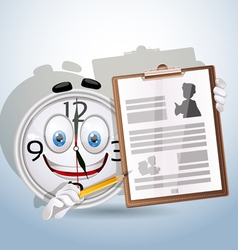 Watch smile shows resume worker vector image