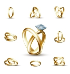 Wedding diamond ring vector image