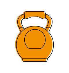 Weight lifting icon image vector