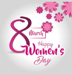 Women day card icon vector