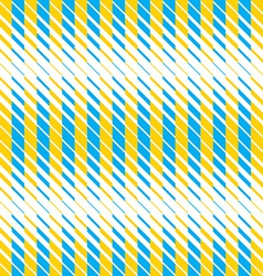 Yellow and blue lines seamless pattern vector image