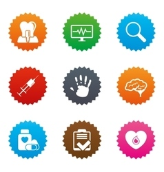 Medicine medical health and diagnosis icons vector