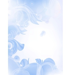Blue Background of leaves vector image