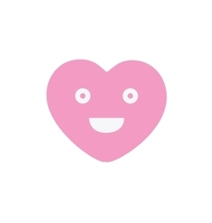 Smile pretty pink heart face sign icon happy vector