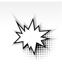 comic star empty paper babble soft shadow vector image