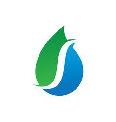 abstract water drop nature logo vector image