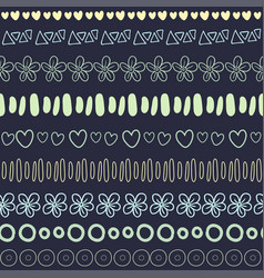 Textile seamless pattern on dark background vector