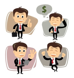 Businessman in various poses vector
