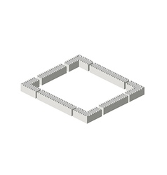 Isometric walls vector image