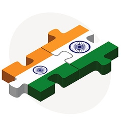 India and india flags in puzzle vector
