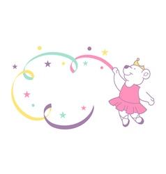 ballerina bear vector image