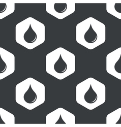 Black hexagon water drop pattern vector