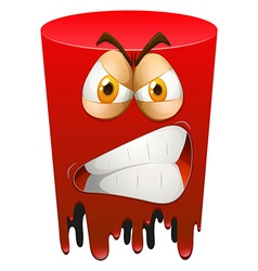 Red angry form on white background vector