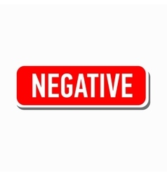 Negative red button icon simple style vector