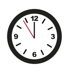 Time clock isolated icon design vector