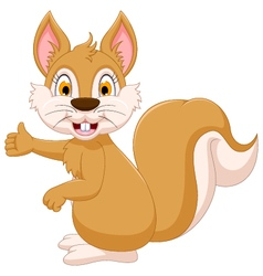 Cute squirrel cartoon showing vector