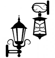 ancient street fixtures vector image vector image