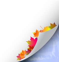 Autumn and winter background vector