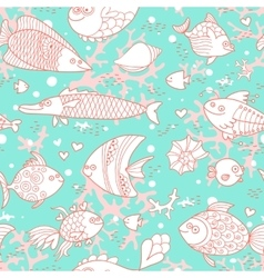 Background of underwater world Seamless pattern vector image vector image