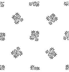 bacteria pattern seamless black vector image