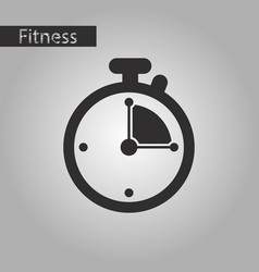 Black and white style icon stopwatch vector