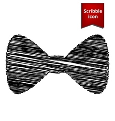 Black Bow Tie icon vector image