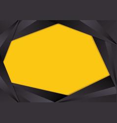 Black triangle frame border vector