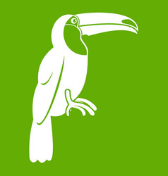 brazilian toucan icon green vector image