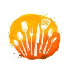 Cafe restaurant logo design template menu vector