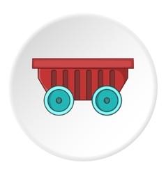Cart on wheels icon cartoon style vector