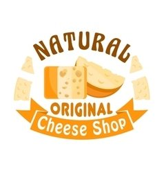 Cheese shop icon badge sign vector