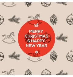 Christmas seamless hand-drawn pattern vector